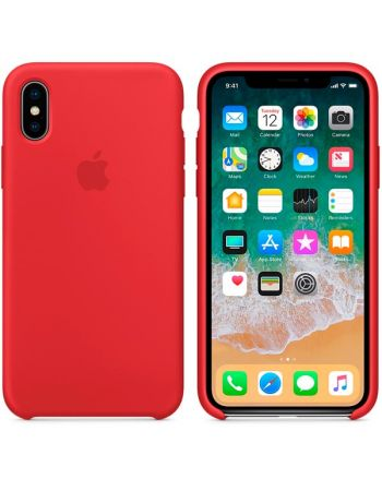 Чехол для iPhone Apple iPhone X Silicone Case RED